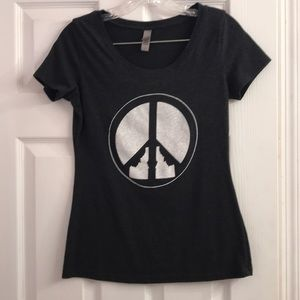 Next Level Idaho Peace ☮️ Sign Graphic T size M